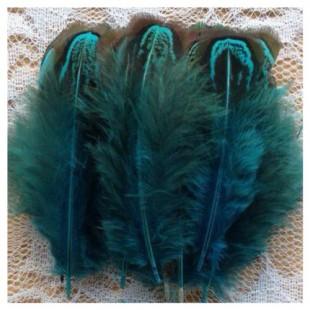 20 шт. Морская волна цвет. Фазан цветное перо 4-7 см