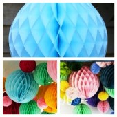 1 шт. Голубой цвет. Фонарики цветные. Размер 10 см.