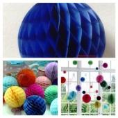 1 шт. Синий цвет. Фонарики цветные. Размер 15 см.