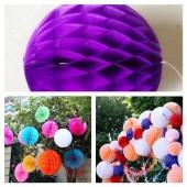 1 шт. Фиолетовый цвет. Фонарики цветные. Размер 15 см.