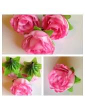 1515. 1 шт. Розовый цвет. Цветные головки роз 4 см.