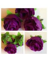 1515. 1 шт. Фиолетовый цвет. Цветные головки роз 4 см.