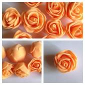 1919. Оранжевый цвет. Цветные головки роз 3 см