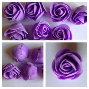 Цветные головки роз 3 см. Искусственные цветы