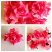 357.1 шт. Розовый цвет. Розы головки 4 см.