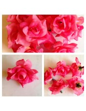 357. Розовый цвет. Розы головки. Искусственные цветы