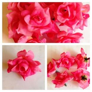 Розовый цвет. Розы головки 4 см.