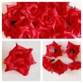 357.1 шт. Красный цвет. Розы головки 4 см.