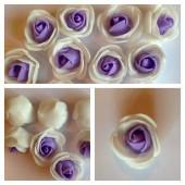 2121. 1 шт. Белый-фиолетовый цвет.  2-х цветные головки роз 3 см.