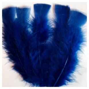 20 шт. Синий цвет. Перо Индейки 9-15 см