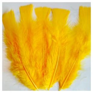 20 шт. Желто-оранжевый цвет. Перо индейки 9-15 см.