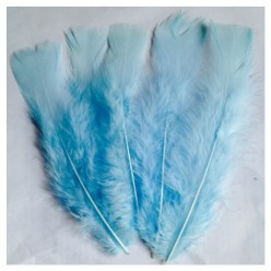 20 шт. Бледно-голубой. Перо Индейки 9-15 см