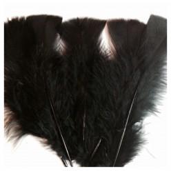 20 шт. Черный цвет. Перо Индейки 9-15 см