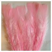 20 шт. Розовый цвет. Перо Индейки 9-15 см