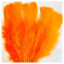 20 шт. Оранжевый цвет. Перо Индейки 9-15 см