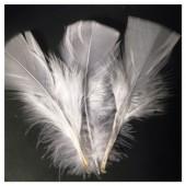 20 шт. Белый цвет. Перо Индейки 5-8 см