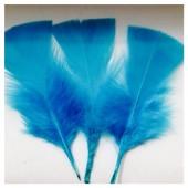 20 шт. Морская волна цвет. Перо Индейки 5-8 см