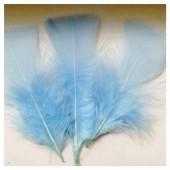 20 шт. Голубой цвет. Перо Индейки 5-8 см