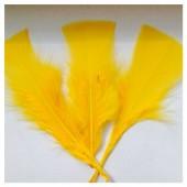 20 шт. Ярко-желтый цвет. Перо Индейки 5-8 см