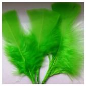 20 шт. Зеленый цвет. Перо Индейки 5-8 см