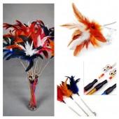 576. 1 шт. Фуксия цвет. Игрушки для кошек. Из перьев птиц