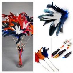 578. 1 шт. Синий цвет. Игрушки для кошек. Из перьев птиц