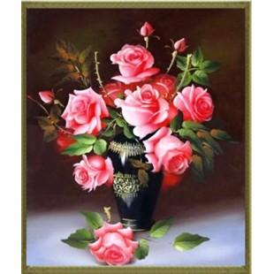 "5D Картина из страз.  ""Букет Роз"""
