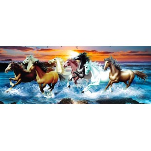 """5D Картина из страз. """"Лошади в воде"""""""