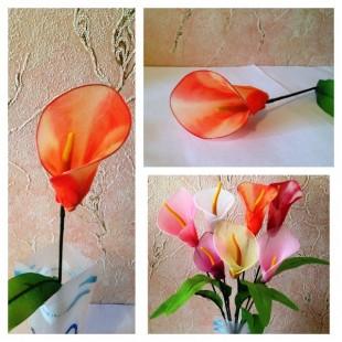 Каллы. Одиночные цветы.