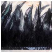 1 м. Черный цвет. Тесьма из перьев 14-19 см