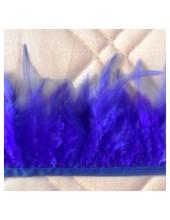 1 м. Синий цвет. Тесьма из перьев 6-11 см