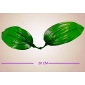 560. 10 шт. Листочки для цветов из капрона