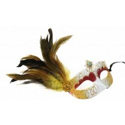 О-1. Маски для праздника с перьями