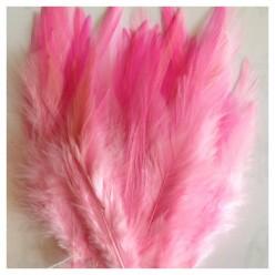 20 шт. Розовый цвет.  Перья петуха. Цветное 10-15 см
