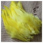 20 шт. Желтый цвет. Перья петуха. Цветное 10-15 см