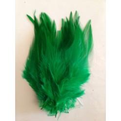20 шт. Нефрит цвет. Перья петуха. Цветное 10-15 см.