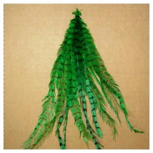 Перо американского петуха 10-15 см. 2-х цветное