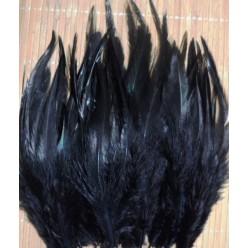 20 шт. Черный цвет. Перья петуха. Цветное 10-15 см