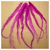 20 шт. Фуксия цвет. Перья американского петуха 10-15 см.