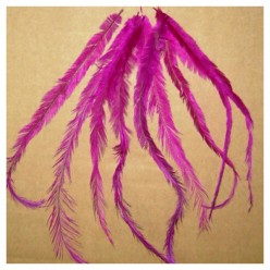 10 шт. Фуксия цвет. Перо американского петуха 10-15 см. Цветное