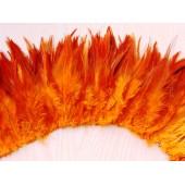 20 шт. Оранжевый цвет. Перо петуха  11-15 см.  2-х цветное