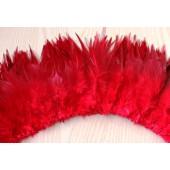 20 шт. Красный цвет. Перо петуха  11-15 см.  2-х цветное
