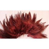 20 шт. Коричневый цвет. Перо петуха  11-15 см.  2-х цветное
