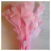 20 шт. Розовый цвет. Кисточка 10-15 см Цыпленок