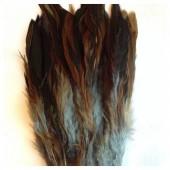 20 шт. Серый цвет. Перо петуха  2-х цветное 12-18 см