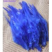 20 шт. Синий цвет. Перья петуха. Цветное 12-16 см