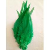 20 шт. Нефрит цвет. Перья петуха. Цветное 12-16 см