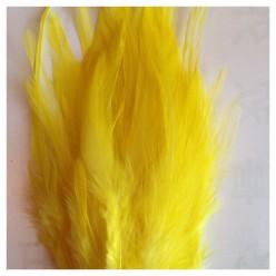 20 шт. Желтый цвет. Перья петуха. Цветное 12-16 см