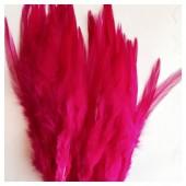 20 шт. Фуксия цвет. Перья петуха. Цветное 12-16 см