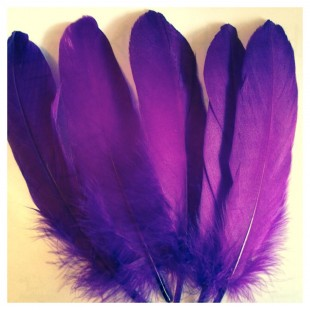 20 шт. Фиолетовый цвет. Перо Петуха 15-20 см
